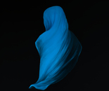 The light blue headscarf