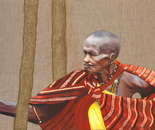 Masai Mara tribal woman