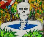 Skeleton in Fountain