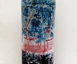 Matt Red White and Blue vase