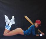 girl baseball