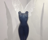 Glass torso with wings 2