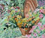 A Summer Flower Garden