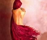la ragazza con i capelli rossi