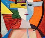 Elena Pop Angelo acrilico su tela, cm. 90x70