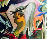 Elena Pop Amore nelle catene, acrilici su tela, cm. 70x90