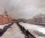 Fontanka, winter