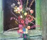 wild flowers in window