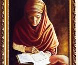 woman reading koran