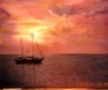 sunset near sark