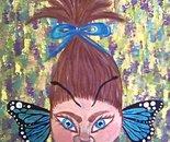 Shrunken Butterfly Head