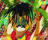 Rasta Drummer with Bananas
