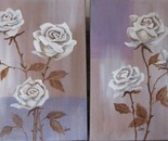 White Rose Diptych