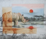 Red Sunset for the Rhino