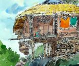 Rakhain Para Bandarban. 2     28x36 cm    pen and water color