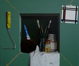 Painters cabinet  60x60cm   oil on linen