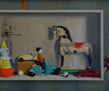 Cabinet with toys (2)  73x55cm   oil on panel