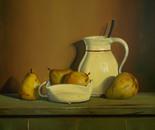 Pears   50x50cm   oil on linen