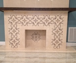 Fragment of Custom Designed Fireplace