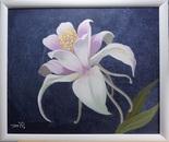 A flower in acrylic ...