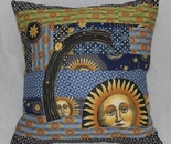 Sun/ moon cushion