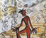 THE DELUSION PART IV By SUNIL AMOLI 8X16 In Watercolor on Paper