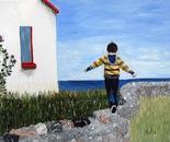 Boy on a Wall