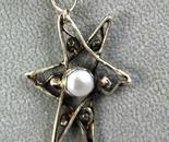 Pearl star pendant