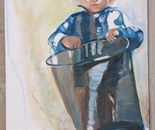 boy and bucket