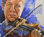 Violinist at Dawn