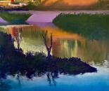 Wetlands, golden hour