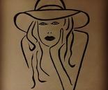 Lise Presley pen sketched drawing