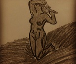 Dante  Alhighieri pencil sketched drawings the famous poet