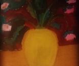 Artist Antonello   3 the dark red rose vase flowers
