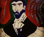 Artist Antonello reproduces the famous  faces Vincent  Van  Gogh