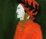 Artist Antonello reproducea the famous poet Dante Alhigieri