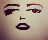 Artist Antonello Antonello reproduces the famous faces of Marelyn  Monroe  pen sketching drawings