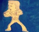 Artist Antonello reproduces the famous Elvis Presley pen  drawings