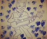 Artist Antonello Antonello reproduces the famous faces of Elvis Presley  pen sketching drawings