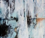 Ende der Eiszeit, 2017, 100x120cm, Mischtechnik auf Leinwand