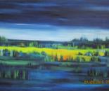 Bluish landscape aroun Viareggio