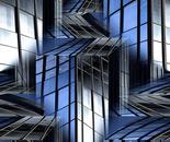 Glaswelt Blauschwarz