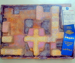 "At the Montgomery County MD Agricultural Fair August 11-19, 2017 in the Department of ARTS, CRAFTS, & HOBBIES Natalya B. Parris's 3-D mixed media, recycled artwork ""Sunset Over Ancient City"" won 1st Place"