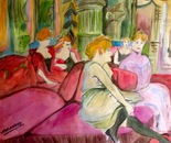 The Salon de la Rue des Moulins of Henri de Toulouse-Lautrec