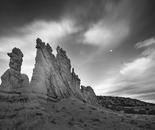 Sandstone Fin, Moonrise, Plaza Blanca, New Mexico