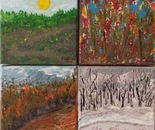Four Seasons/4 pieces-awarded artwork