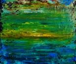 Paysage d'océan abstrait