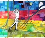 """""""Golfspielerin in der City"""""""