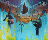 Dancers in the morning sky
