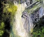 Náttúrulýsing 120x50 cm - artist Birgit Kirke
